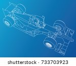 formula race car. abstract... | Shutterstock .eps vector #733703923