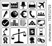 set of 22 business related... | Shutterstock .eps vector #733711723
