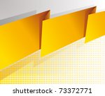 Abstract yellow banner background - vector - stock vector