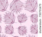 seamless stylish leaves pattern   Shutterstock .eps vector #733731673