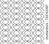 stylish geometric design with... | Shutterstock .eps vector #733761487