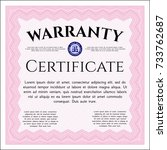 pink retro warranty template....   Shutterstock .eps vector #733762687