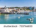 seaside cityscape of cascais... | Shutterstock . vector #733766833