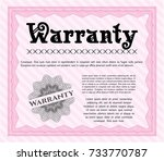 pink formal warranty... | Shutterstock .eps vector #733770787