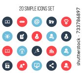 set of 20 editable global icons....
