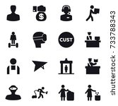 16 vector icon set   man  money ... | Shutterstock .eps vector #733788343