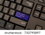 Small photo of General Data Protection Regulation (GDPR) on keyboard button