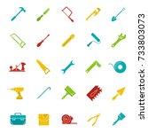 construction tools glyph color... | Shutterstock . vector #733803073