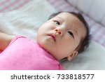 asian 3 months baby girl... | Shutterstock . vector #733818577