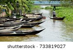 boat in the canal at thailand | Shutterstock . vector #733819027