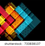 colorful triangles and arrows... | Shutterstock .eps vector #733838137