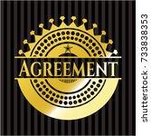 agreement gold shiny emblem | Shutterstock .eps vector #733838353