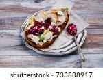 homemade leftover thanksgiving... | Shutterstock . vector #733838917