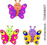 butterfly image | Shutterstock .eps vector #733848007