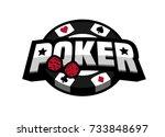 poker game  logo emblem. | Shutterstock .eps vector #733848697
