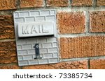 Mail box on brik wall - stock photo