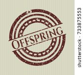 red offspring distressed rubber ... | Shutterstock .eps vector #733875553