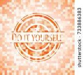 do it yourself abstract orange...   Shutterstock .eps vector #733886383