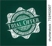 trial offer on blackboard | Shutterstock .eps vector #733902007