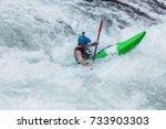 kayaking in india   Shutterstock . vector #733903303
