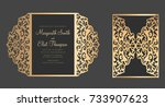 gate fold laser cut card... | Shutterstock .eps vector #733907623