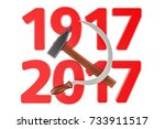 anniversary of russian... | Shutterstock . vector #733911517