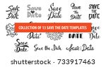 set of 13 vector hand drawn... | Shutterstock .eps vector #733917463