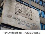 london croydon law courts... | Shutterstock . vector #733924063
