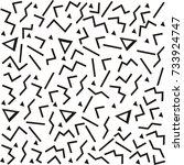 seamless fun pattern. geometric.... | Shutterstock .eps vector #733924747
