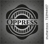 oppress retro style black emblem | Shutterstock .eps vector #733944457