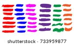 set of hand painted colorful... | Shutterstock .eps vector #733959877