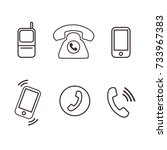 phone icons pack vector
