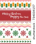 template christmas  with free... | Shutterstock .eps vector #734034157