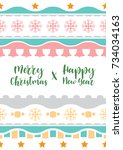 template christmas  with free... | Shutterstock .eps vector #734034163