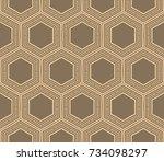 modern geometric seamless... | Shutterstock . vector #734098297