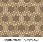 modern geometric seamless... | Shutterstock . vector #734098567