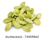 pumpkin sunflower seeds close up | Shutterstock . vector #73409863