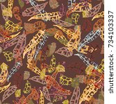 seamless pattern with rustic...