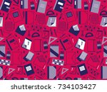 Seamless Pattern With School...