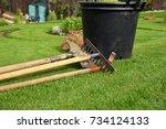 gardening tools | Shutterstock . vector #734124133