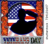 veterans day hot sale  3d... | Shutterstock . vector #734131657