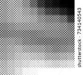 ink print distress background . ... | Shutterstock . vector #734140543
