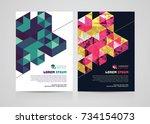 abstract brochure template...   Shutterstock .eps vector #734154073