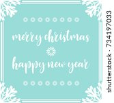 template christmas card  for... | Shutterstock .eps vector #734197033