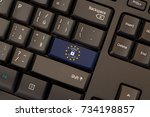 general data protection... | Shutterstock . vector #734198857