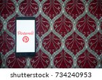 los angeles  usa  october 14 ... | Shutterstock . vector #734240953