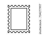 postage stamp outline icon | Shutterstock .eps vector #734277997