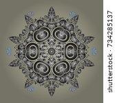 vector illustration. pattern... | Shutterstock .eps vector #734285137