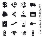 16 vector icon set   dollar ...