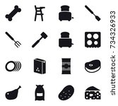 16 vector icon set   chair for